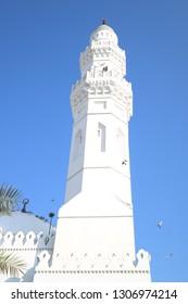 tower of mosque Quba - Medina , Kingdom of Saudi Arabia (KSA) - January 2019