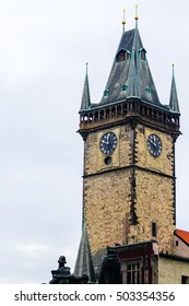 Tower near Charles Bridge in Praha