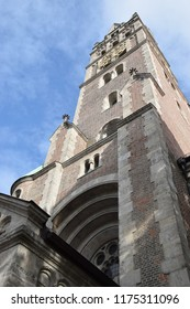 Tower of the neo-Romanesque church St. Maximilian in Munich