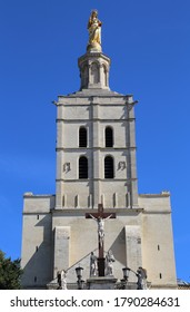 Tower of Notre Dame church in Avignon, France