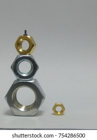 Tower of nuts in silver and gold