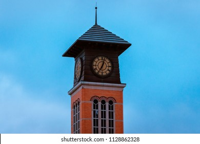 Tower off of an academic building on Grand Valley State University campus in Grand Rapids Michigan