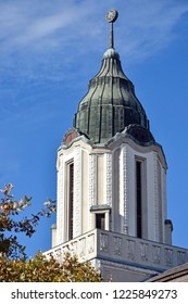 Tower of an old building in Debrecen, Hungary