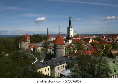Tower and old building in Tallinn
