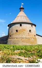 Tower of old Russian medieval Oreshek fortress in Shlisselburg, Russia