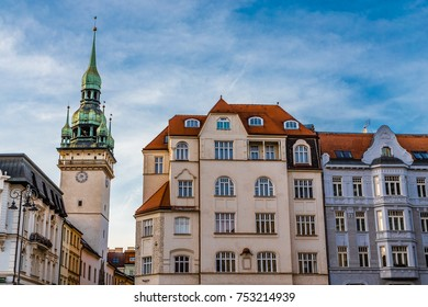 Tower Of Old Town Hall And Residentail Buildings - Brno, Moravia, Czech Republic, Europe