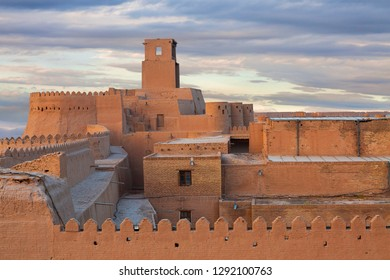 Tower and the old walls of the ancient city of Khiva in, Uzbekistan