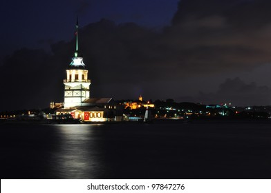 tower on sea in Istanbul, Turkey