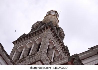 Tower of Parroquia de San Francisco de As's, Cuetzalan Del Progreso, Puebla Mexico.