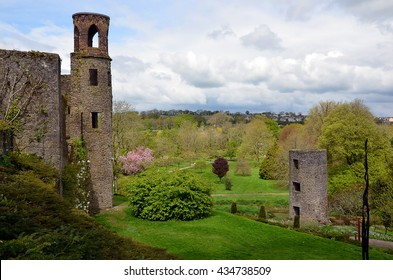 tower and part of Blarney Castle in Ireland