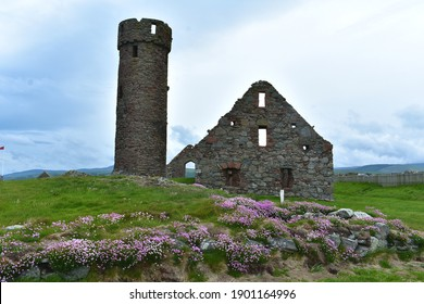 The tower of Peel Castle was originally part of the Celtic monastery, but had battlements added at a later date. The majority of the walls and towers were built from local red sandstone.