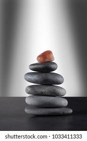 tower of piled zen stones