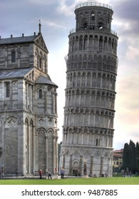 The Tower of Pisa is the bell tower of the Cathedral. Its construction began in the august of 1173 and continued (with two long interruptions) for about two hundred years.