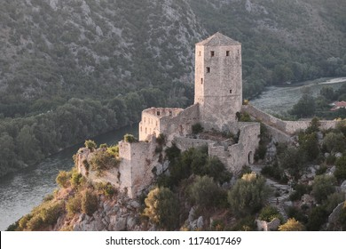 tower of Pocitelj fortified town, Bosnia and Hezegovina