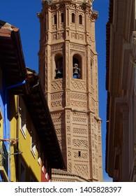 Tower of Royal Collegiate Church of Santa Maria. City of Calatayud. Zaragoza. Spain