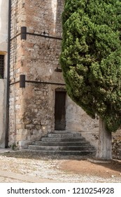 tower of Santa Maria in Colle Church in Bassano del Grappa, Italy  2