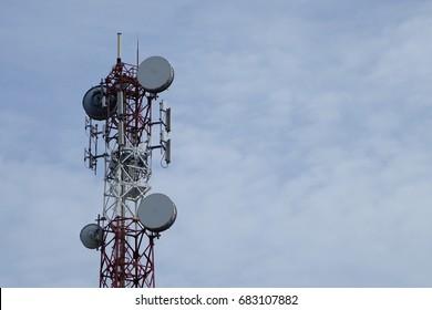Tower of satellite dish, Communication data networks