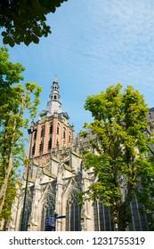 tower of St. Jan Evangelist Church in Den Bosch, 's Hertogenbosch, The Netherlands