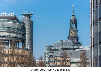 Tower of St. Michaelis church in Hamburg, Germany