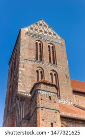 Tower of the St. Nikolai church in Wismar, Germany