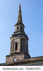 The tower of St. Pauls Church, located in the Jewellery Quarter in Birmingham, UK.