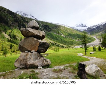 Tower of Stone in the alps