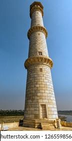 Tower of Taj Mahal in Agra, Uttar Pradesh, India on 1 December 2018