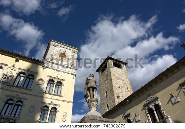 The Tower of the Town Hall and the Duomo Tower in Belluno