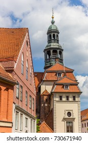 Tower of the town hall in the historic center of Luneburg, Germany