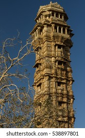 Tower of Victory (Vijay Stambha) in fort of Chittor. Erected in the 15th AD. Chittorgarh is the largest fort in India & the largest in entire Asia. It is on UNESCO World Heritage Sites List.