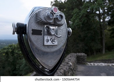 Tower viewer on a mountaintop