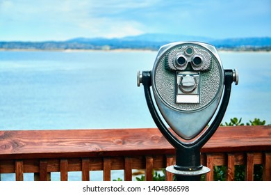 Tower viewer with shore view on the background