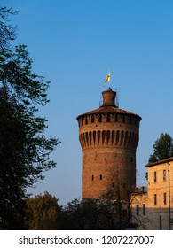 The Tower of the Visconti Castle. The Castle was a defensive fortification of the city of Lodi.
