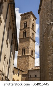 Tower of Volterra cathedral, Torre Campanaria, Tuscany, Italy