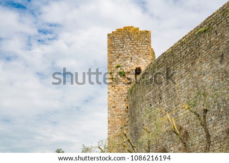tower and wall of