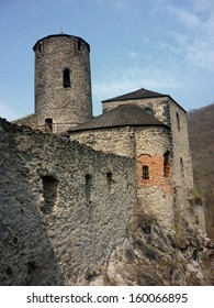 Tower and walls of Strekov castle, Usti nad Labem, Czech Republic