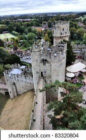 A tower at Warwick castle, England UK