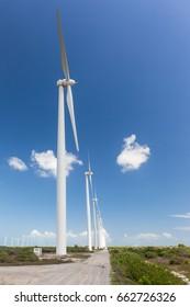 Tower of wind farm at northeast Brazil
