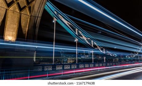 Towerbridge in Londo UK (GBR) by night