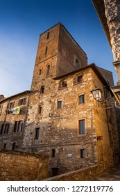 The tower-house of Arnolfo di Cambio is one of the few towers of Colle Val d'Elsa that still remain of the many that embellished the city. Colle Valdelsa, Siena