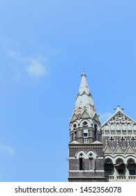 Towering British architectural arch and dome style building in Mumbai,India.