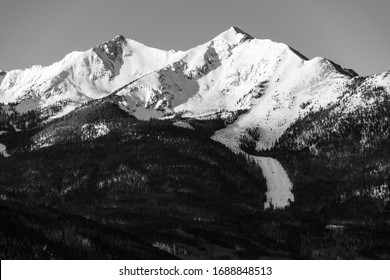 Towering Peaks above a large avalanche path near Frisco, Colorado.