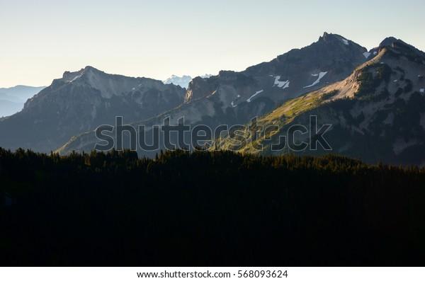 Towering Peaks of Mount Rainier National Park