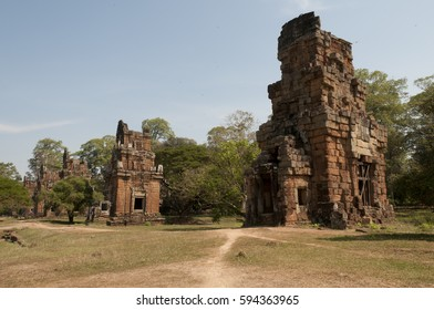 Towers in Angkor Thom complex, Cambodia