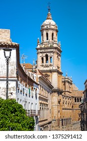 Towers of Cathedral of Jaen, Andalusia, Spain