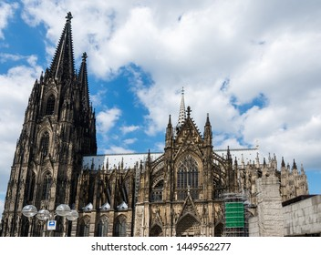 Towers of the famous Cologne Cathedral