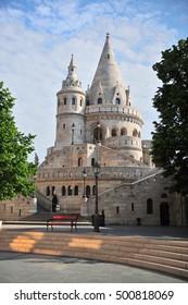 Towers of Fisherman bastion, Budapest city, Hungary