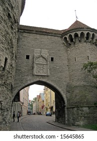 Towers and gate of Old city in Tallinn, Estonia