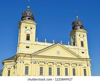 Towers of the Great church in Debrecen, Hungary