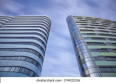 Towers Long exposure